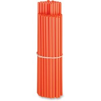 80-PACK POLYURETHANE SPOKE SKINS ORANGE - O15-6580O