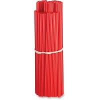 80-PACK POLYURETHANE SPOKE SKINS RED - O15-6580R