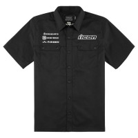KINGSLEY™ SHOP SHIRT BLACK LARGE - 3040-2483