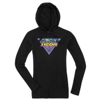 WOMENS GEORACER™ THERMAL HOODY BLACK MEDIUM - 3051-0977