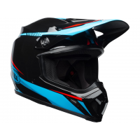 Casque Bell Mx-9 Mips Gloss Black/Cyan/Red Torch Taille XL 61-62cm