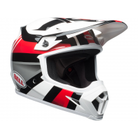 Casque BELL MX-9 Mips Gloss White/Black/Red Marauder - Taille au choix