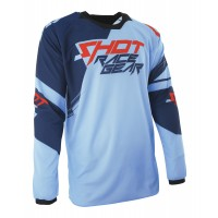 SHOT Contact Claw Jersey - Neon Blue / Red