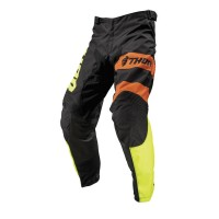Pantalon de cross S9Y PLSBKAT pour enfant Noir/Jaune/Orange Thor